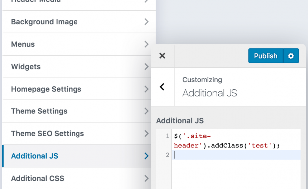 Creating a JS code editor control in the Customizer