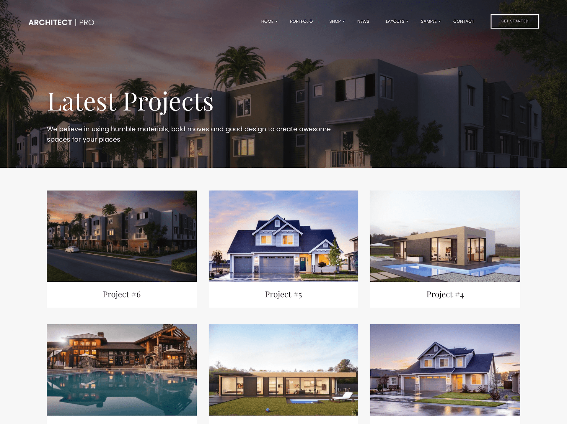 architect portfolio wordpress theme
