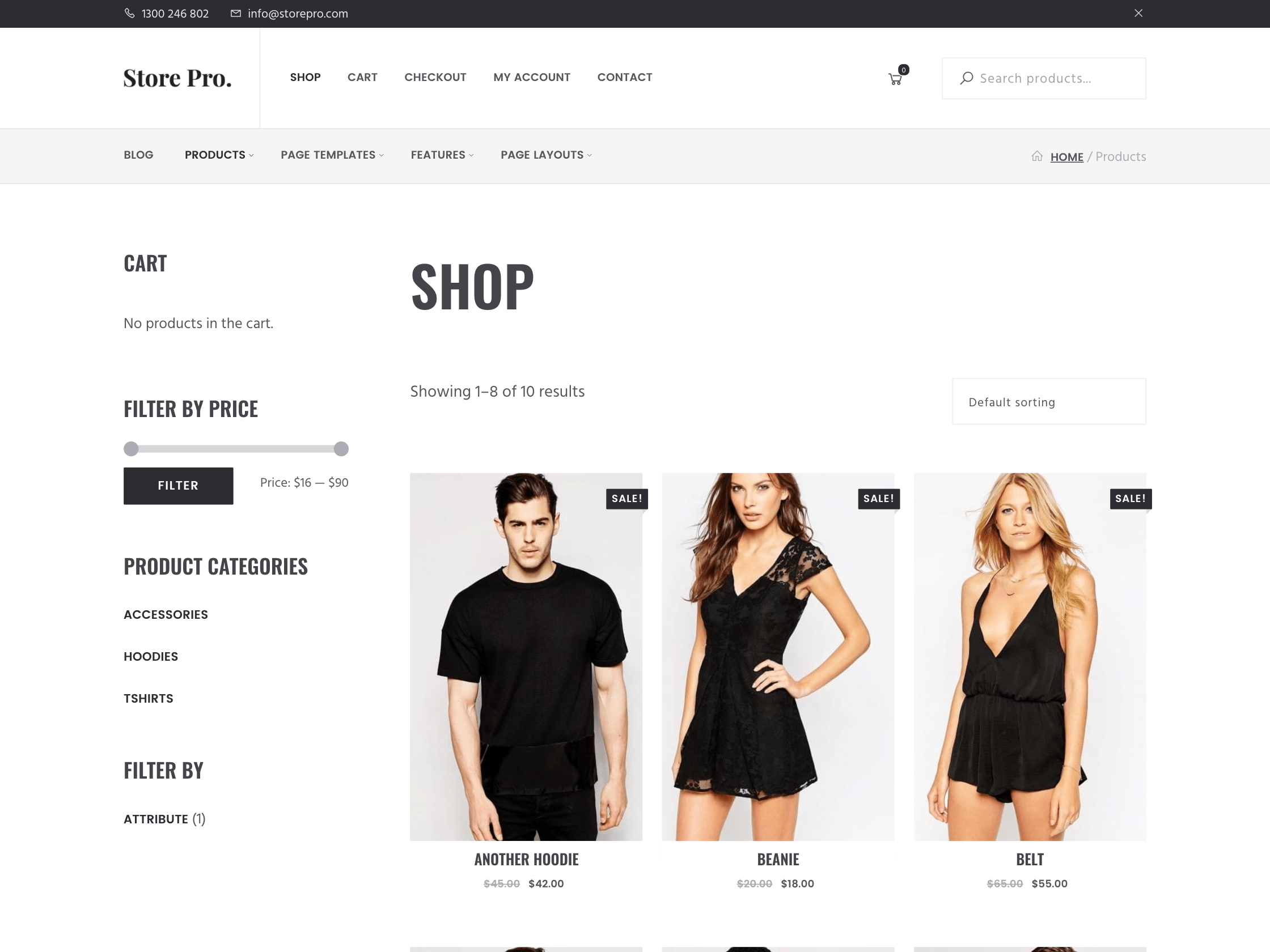 genesis ecommerce theme shop page
