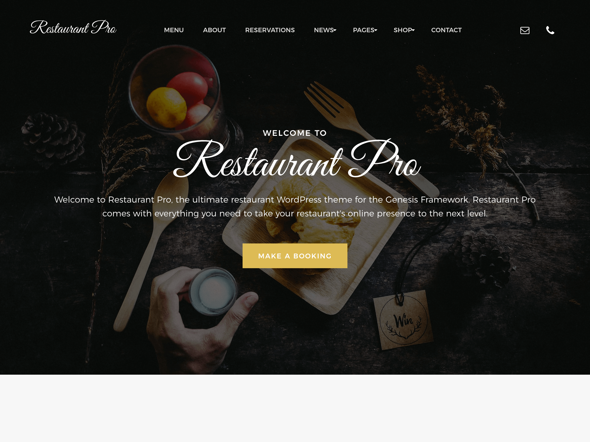restaurant pro genesis child theme
