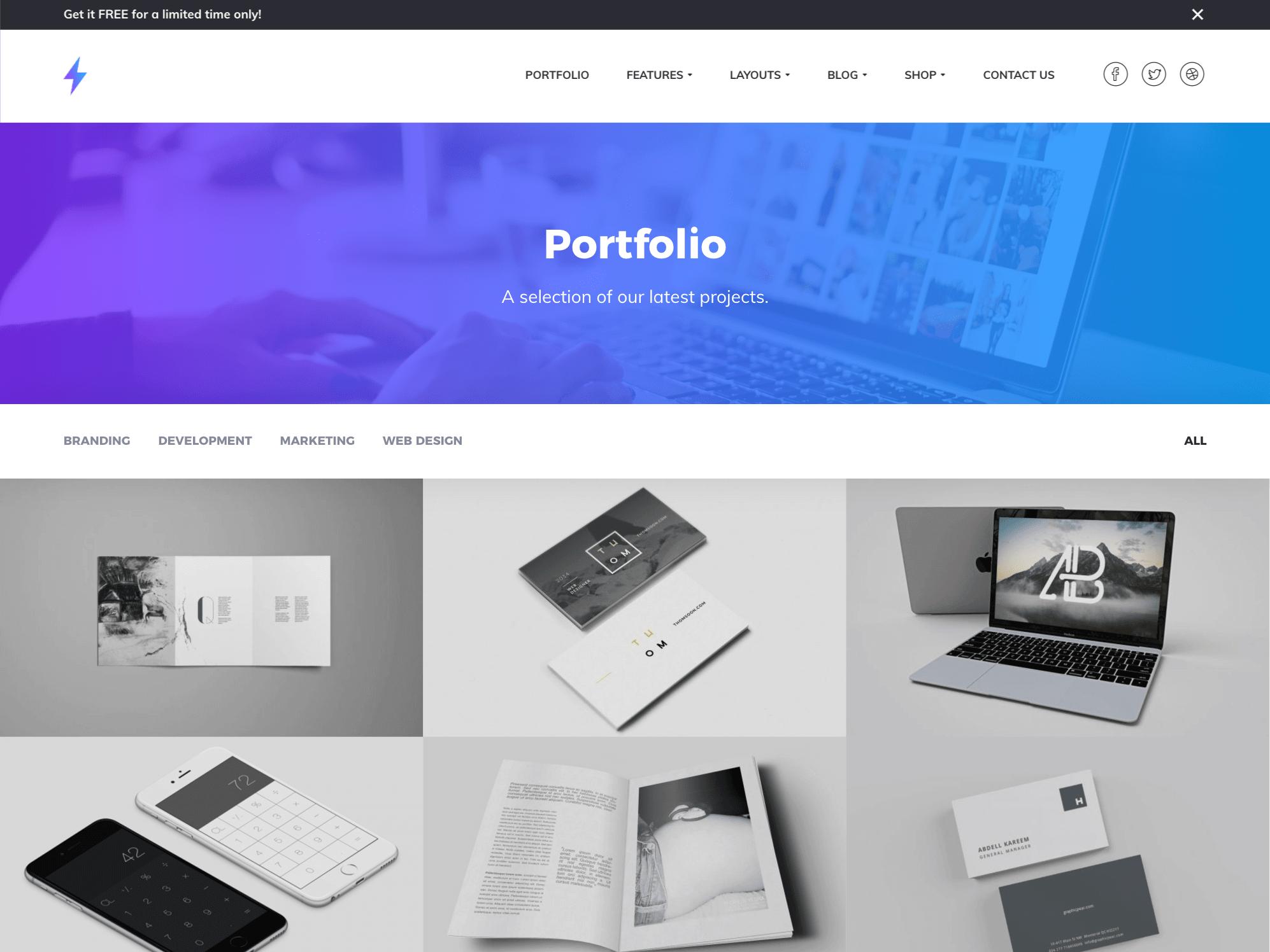 genesis portfolio theme